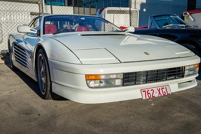 Ferrari Testarossa - Cars & Coffee, Brisbane. Saturday 5 August 2017. Photos by Des Thureson - http://disci.smugmug.com