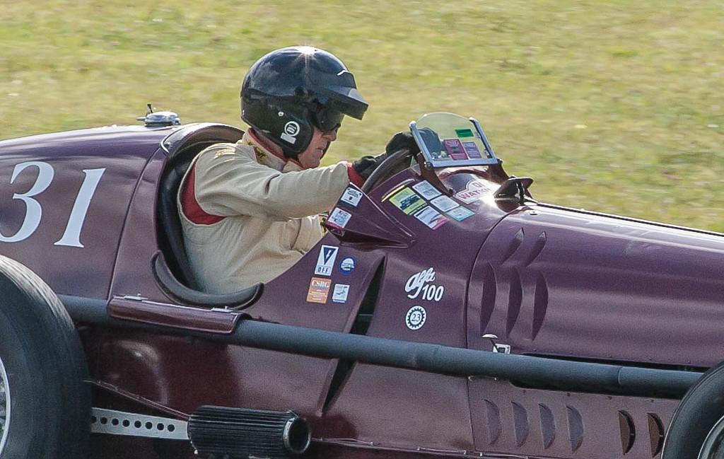 Peter Giddings in 1931 Alfa Romeo Tipo B P3