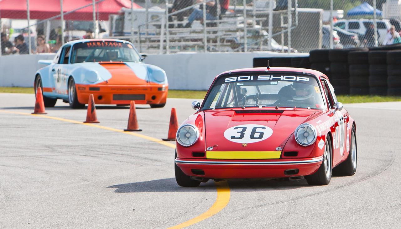 Jerry Peters in 901 Shop tribute to Brumos 1965 Sebring-winning Porsche 911