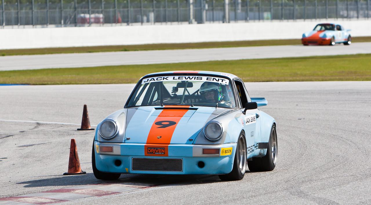 Jack Lewis in IROC 1974 Porsche RSR 3.0 liter