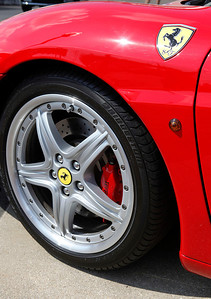 The wheel of Eileen Devries' 2003 Ferrari 360 Spyder. She's from East Grand Rapids.