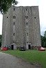 Hedingham Castle Keep with a Ferrari F40 and two 458 cars