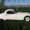 Jaguar xk120 in white, very nice.