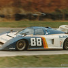 Nissan/Datsun Camel GT 500 Kilometers at Road Atlanta, April 1983, Turn 11.  The March 83G-Chevrolet of Motorsports Marketing team, and driven to 2nd place by Bill Whittington (USA) and Emory Donaldson (USA; no relation) after qualifying 14th.