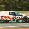 Nissan Camel 500 km Grand Prix, Road Atlanta, April 1989, Turn 3. Jan Lammers (NL) in the Castrol Jaguar Racing 60 - Jaguar XJR-9 (chassis No. TWR-J12C-288) that he shared with Davy Jones (USA). This car qualified 4th, but DNF'd with a broken valve, and was classified 16th. The #61 sister car of Price Cobb (USA) and John Nielsen (DK) fared better, starting and finishing 2nd.