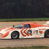 IMSA Camel GT Road Atlanta (500 km), April 1984, entering Turn 1; The March 83G-Chevrolet (chassis No. 3) of Kenper Miller (USA) and Dave Cowart, which finished a good 4th after starting 6th.