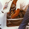 IMSA Road Atlanta GT II, September 1981; David Hobbs (GB) prepares for a session in the BMW of North America-entered March 81P-BMW (chassis number 81P-01) which qualified 4th, but was retired after 40 laps of the 60-lap race, and was finally classified 18th.
