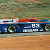 Nissan Camel 500 km Grand Prix at Road Atlanta, April 1989, approaching Turn 5. Electramotive Engineering's Nissan GTP ZX-T (chassis No. 88-01) which was driven to victory by Geoff Brabham (AUS; pictured) and Chip Robinson (USA) after starting from 3rd on the grid.