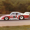 Road Atlanta GT II 150 mile race, September 1981, Turn 4. The Bayside Disposal Racing Brumos-prepared Porsche 935/80 (chassis Nr. 000 00028) which Hurley Haywood (USA) and Bruce Leven (USA; pictured) qualified 11th, but they failed to finish and were classified 19th.