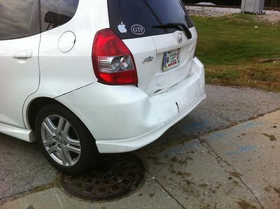 Honda Fit wreck