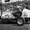 Like The Pines, Hudson Speedway also has a great midget racing history (and fortunately, unlike The Pines, Hudson is still with-us). This one captures standout New England open-wheeler Hermie Delisle ready to go at an early Hudson midget event. Delisle was a popular racer during his era, competing and winning at a number of different raceways all up & down the east coast. It was often a busy schedule for these pioneers of the sport. One could race just-about 7-days a week if desired when the midgets were at the height of their popularity following World War II.