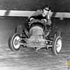 """Seen here in action during his prime (and looking a bit mischievous), this is none-other than the late Oscar """"Cannonball"""" Ridlon. He was a hugely-influential figure within the realm of New England auto racing, and especially in the formation a class that would eventually become known as the Super Modifieds. A former big car & midget racer of epic proportions, he later became the owner & promoter of the former Pines Speedway in Groveland, Massachusetts, and also New Hampshire's Hudson Speedway. At one time, his URDC circuit was one of the most successful of sanctioning bodies, producing talent that would become household names in our region. Guys like Hall of Famers Ollie Silva, Don MacLaren, Bentley Warren and Paul Richardson in naming just a few, all raced for Ridlon early in their careers. Also at the helm of Maine's Arundel Speedway for a time, he was the personification of an old-time promoter, ruling his tracks with an often-controversial """"Iron-Fist"""" mentality. Some of the stories told by the drivers that raced for him are truly the stuff of our region's racing folklore. A New England Auto Racing Hall of Fame member, Oscar passed-away in 1973 but not before making several important contributions to the sport he was involved-with for decades. (Photo Courtesy R.A. Silvia Archives)."""