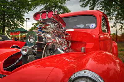 A blown bright red 1941 Willys is always a great sbject for an HDR. Photo was taken at the 2008 Lead East Show.