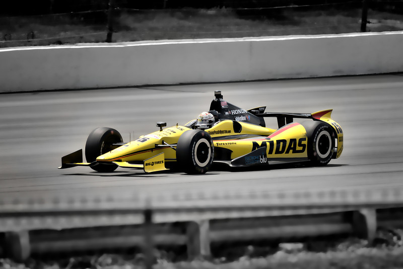 Graham Rahal did not have the Midas touch, finishing 18 out of 24.