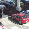 A Chevy Volt at a charging station