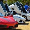 Ferrari F430 Scuderia, Lamborghini Aventador and Lamborghini Countach