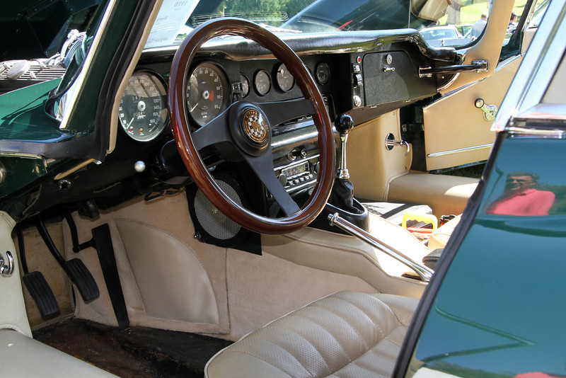 Interior of another XKE coupe