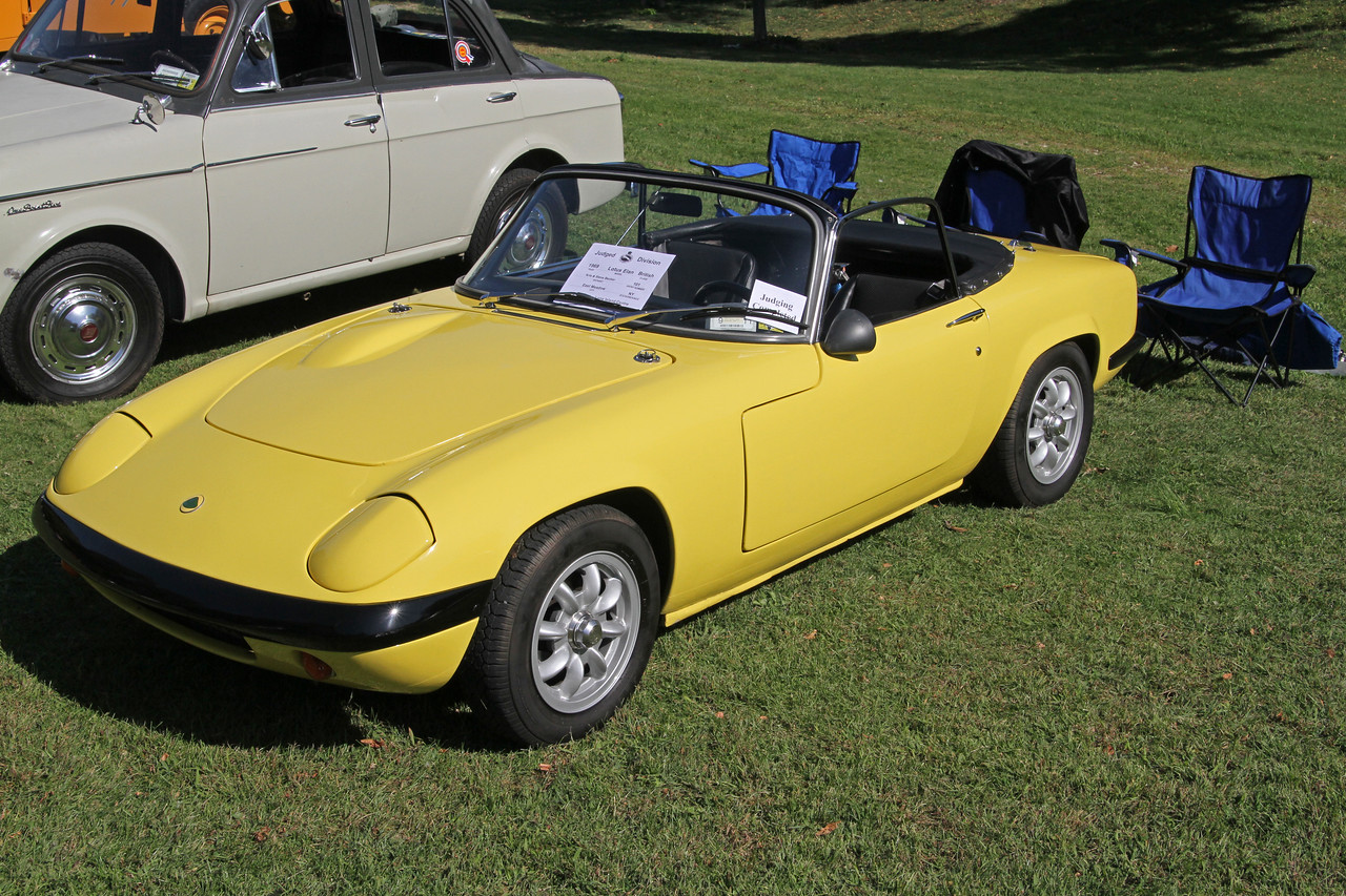 1969 Lotus Elan. The photo doesn't really convey how small this car is. Check out the photo of the interior.