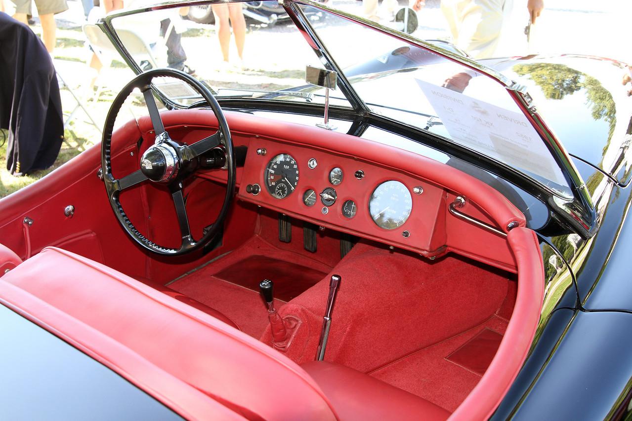 1952 XK120 interior