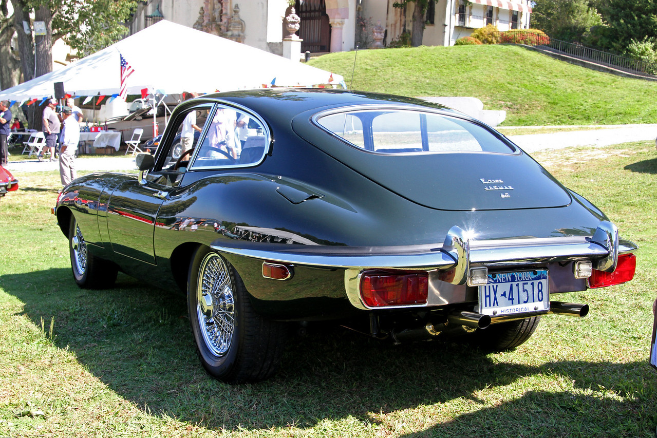 A beautiful XKE coupe from the rear.