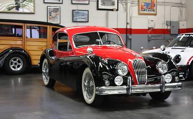 1956 Jaguar XK 140 Coupe.