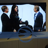 "This TV was in the Volvo display, so people who were not at the Press Conference, could at least see the presentation and  dialog--this family with 2 daughters are one of the first who will be ""driving"" a Volvo with the ""DRIVE ME"" features."