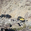 As the Kevin's Jeep (in yellow) was pulling the axle into place, the Jeep behind was winched to Kevin to keep his Jeep in position.