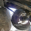 This wasn't the first pic of the day. But it will explain the rest. Kevin snapped his control arm off the the mount. (Vicki will have video soon). I wasn't able to get a pic of it broken until it had been moved back into place.... the following pictures show how the axle was re-positioned.