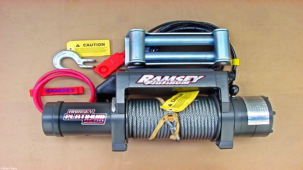 Brian has just opened the Ramsey winch package.  Now to fir it to the ARB winch bar on Wrangler