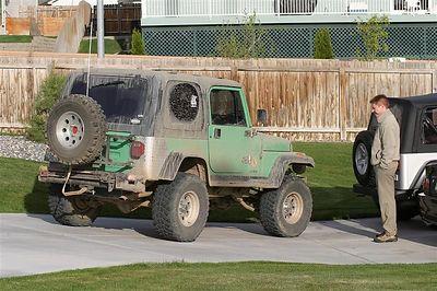 Jeepin at Vantage or I think Shawn broke and axle!