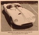 """1958 photo of Jones De Camp Crosley Special. Photo courtesy Road & Track magazine"""