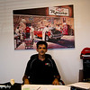 Manager Jim Hidy behind his desk at the shop office. Jim gave our group a great tour of their existing and new facilities.
