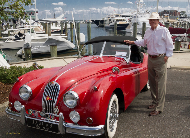 Dee and 1956 Jag