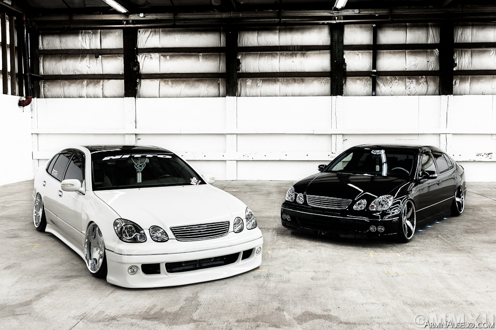 Kenji's and Justin's Lexus GS300s