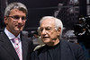 Audi CEO Rupert Stadler (left) with star architect Frank Gehry .