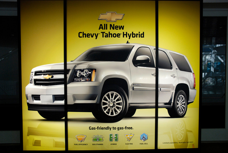 """Green Car of the Year"": Chevy Tahoe Hybrid - proving once again Albert Einstein's insight that everything is relative."
