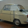 Vespa 400<br /> Rear engine, rear wheel drive. Engine 393 cc, 2 stroke, 14 BHP. Air cooled. 3 speed 55 MPH, Prod. 1957-61 $1,000, 34 sold.