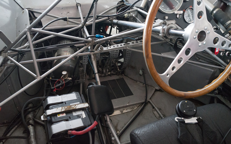 interior of Maserati birdcage… lots of little tubes!