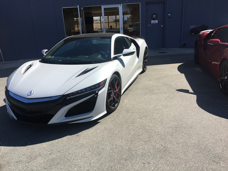 Acura NSX road car at Hospitality Suite, Laguna Seca Raceway.