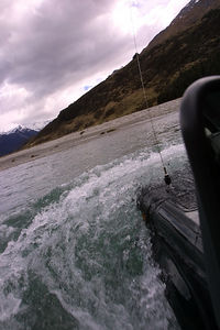 river crossing, South Island New Zealand