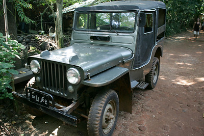 ok, not a land rover, but a very old willys jeep in .... Burma (Mynmar). Pretty good shape too!