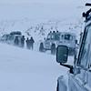 Ved Kalmanstunga, på vei opp mot Langjökull fra vest. Dårlig sikt og snøstorm gjorde at vi ikke kom opp på Isbreen. Noen mil nordvest for Rekjavik.