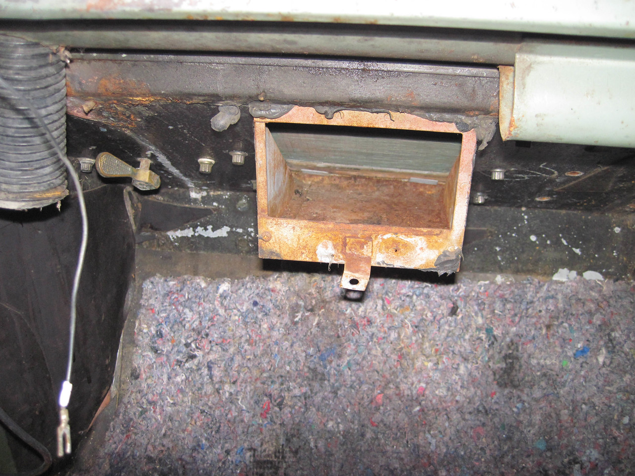 Inside view of heater coil.