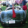 Jaguar C-Type. The door at the bottom is for the spare tire that cars were required to carry at Le Mans in the 1950s.