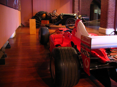 Ferrari F2002 F1 and Kissel Kar. Nearly 100 years of automotive design and engineering.