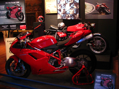 Ducatis on display
