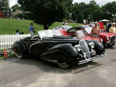 Delahaye 135. 100% French but the owner did bring the A6GCS Maserati so it's OK.