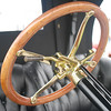 Great detail of vintage steering wheel at Newport Concours 2010.