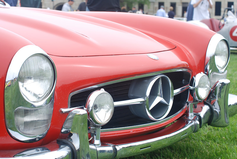 Mercedes 300 SLR front end detail. Newport Concours 2010.