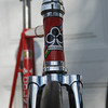 Colnago Pista headtube detail. Note undrilled front fork...this is a track bike. No brakes required!